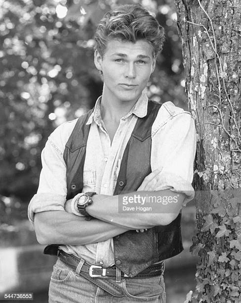 Portrait of musician Morten Harket lead singer with pop band 'AHa' April 18th 1988