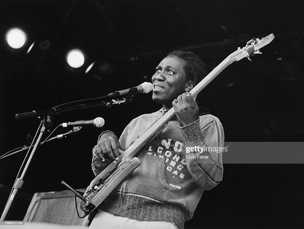 Portrait of musician Richard Bona, Monterrey, California, 2007.