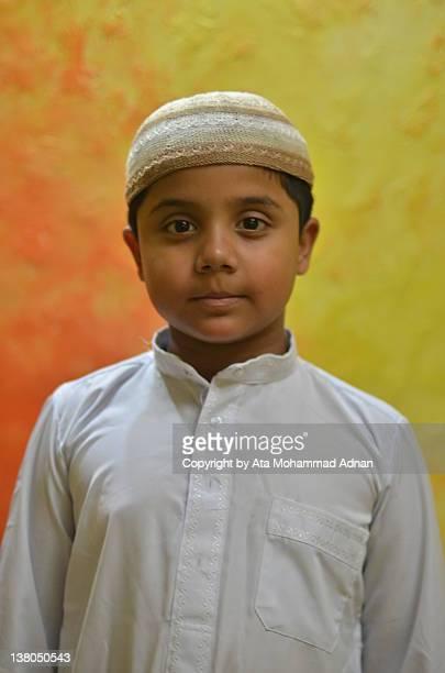 Portrait of Muslim child