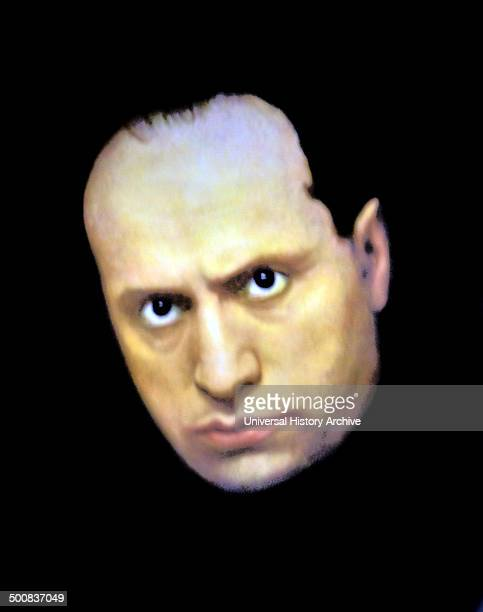 Portrait of Mussolini Italian Prime minister and Fascist leader