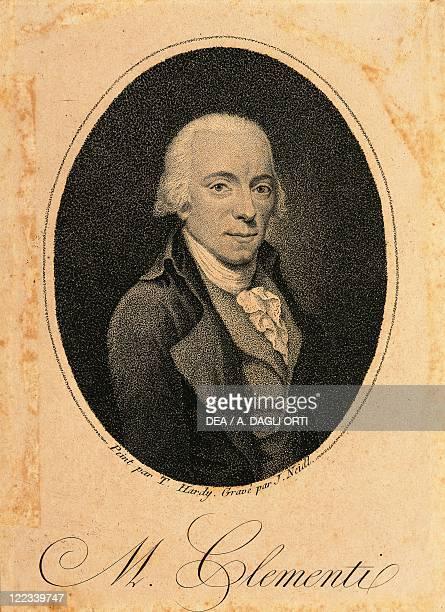Portrait of Muzio Clementi Italian composer and pianist Engraving