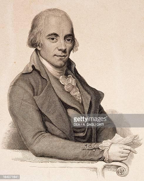 Portrait of Muzio Clementi Italian composer and pianist Engraving Vienna Gesellschaft Der Musikfreunde