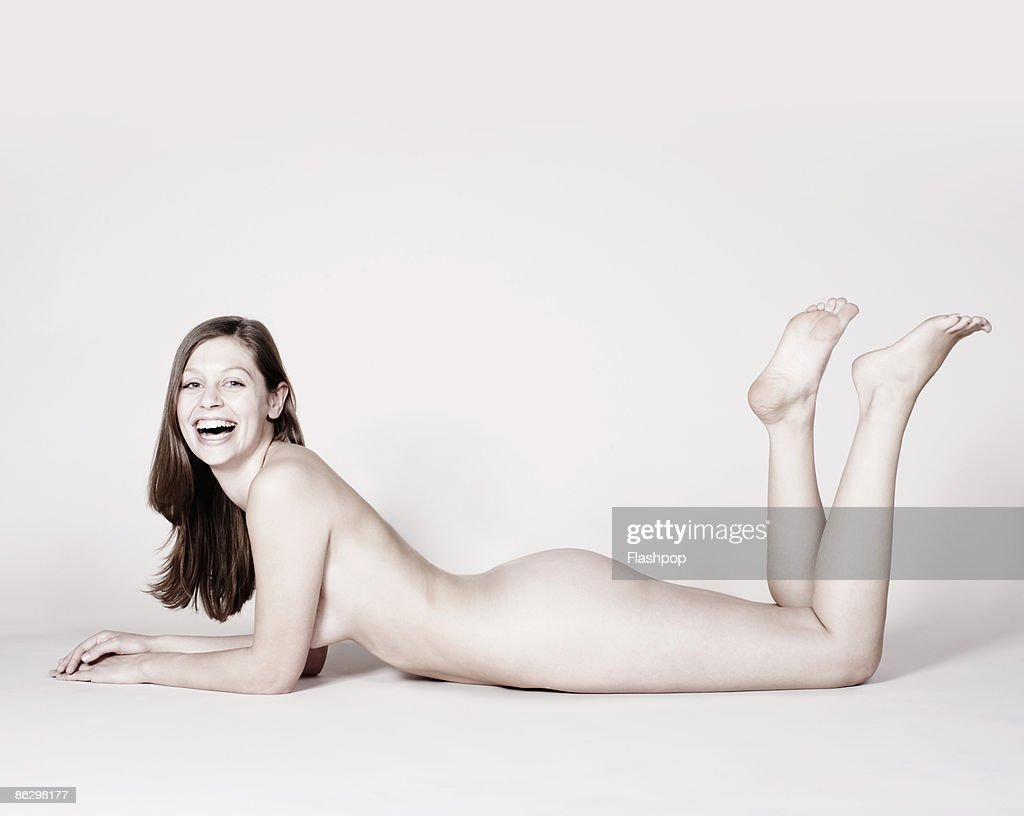 Portrait of naked woman : Stock Photo