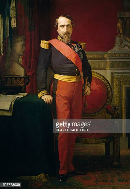 Portrait of Napoleon III painting by JeanHippolyte Flandrin France 19th century Versailles Château De Versailles