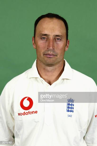 A portrait of Nasser Hussain of England taken during the England Cricket Team photoshoot held in May 2003 at Lord's Cricket Ground in London