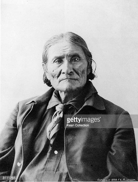 Portrait of Native American Indian chief Geronimo 1890s