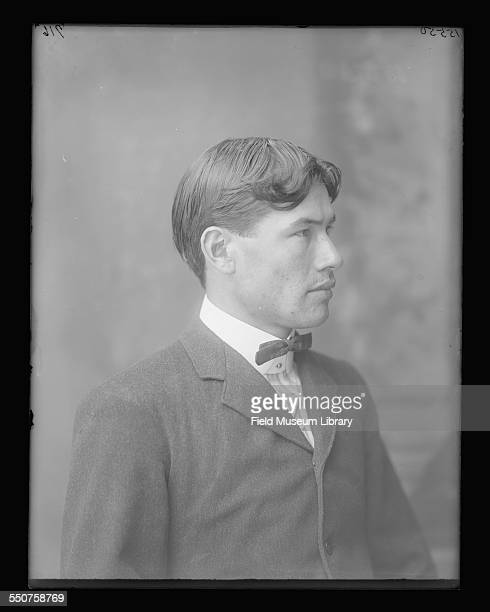 Portrait of Native American Sioux George Menz aged 24 from German Standing Rock North Dakota at the Louisiana Purchase Exposition St Louis Missouri...