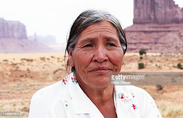 Portrait of Navajo Indian woman.