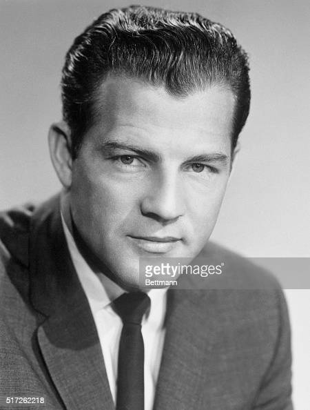 A 1967 portrait of NBC newsman and sportscaster Frank Gifford husband of Kathy Lee Gifford the TV personality