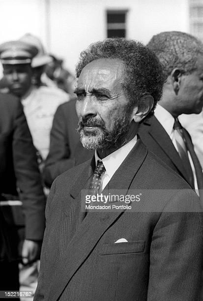 Portrait of Negus of Ethiopia Haile Selassie I Addis Ababa November 1966