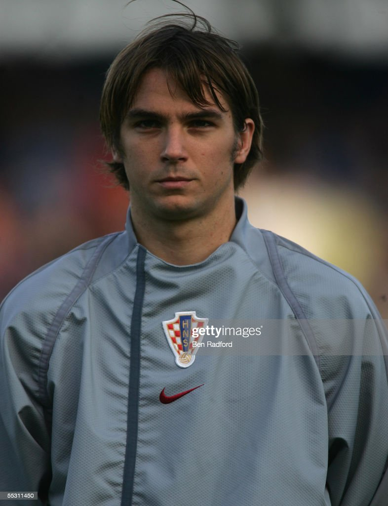 A portrait of Niko Kranjcar of Croatia team prior to the 2006 World Cup qualifying match between Iceland and Croatia at Laugardalsvollur Stadium on September 3, 2005, in Reykjavik, Iceland.