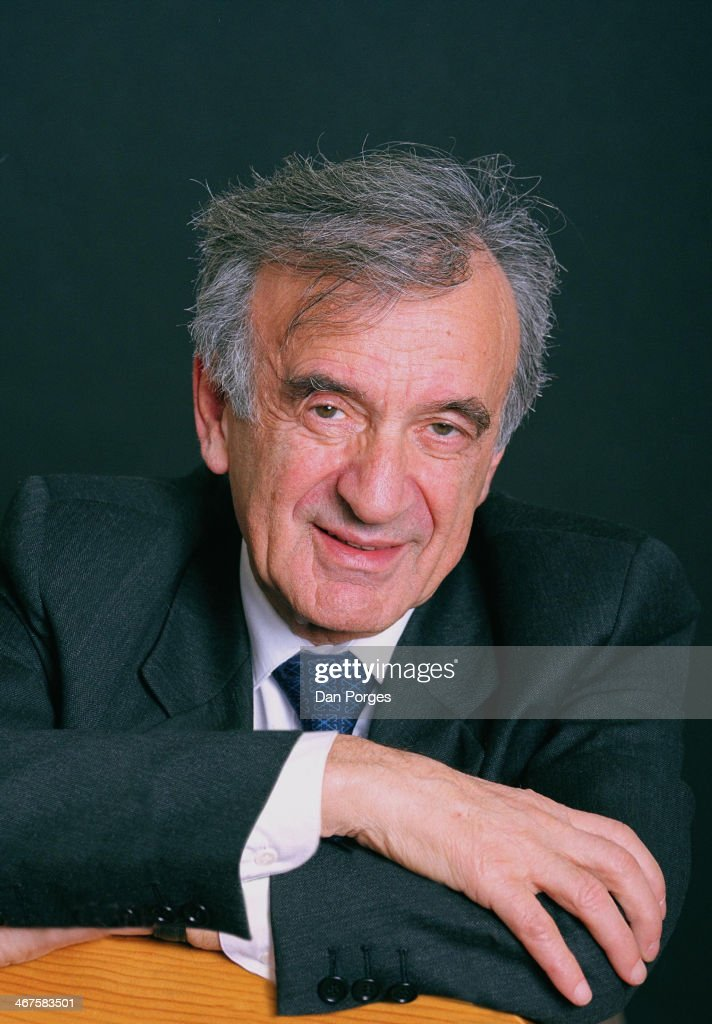 Portrait of Nobel Peace prize-winning author and activist Elie Wiesel, New York, New York, November 12, 2000.