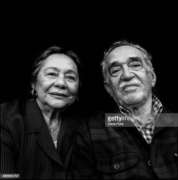 Portrait of Nobel prizewinning Columbian author and journalist Gabriel Garcia Marquez and his wife Mercedes Barcha Los Angeles California July 2007