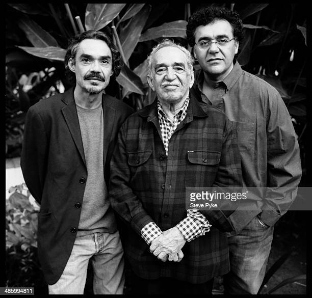 Portrait of Nobel prizewinning Columbian author and journalist Gabriel Garcia Marquez and his sons Gonzalo Garcia Barcha and film and television...