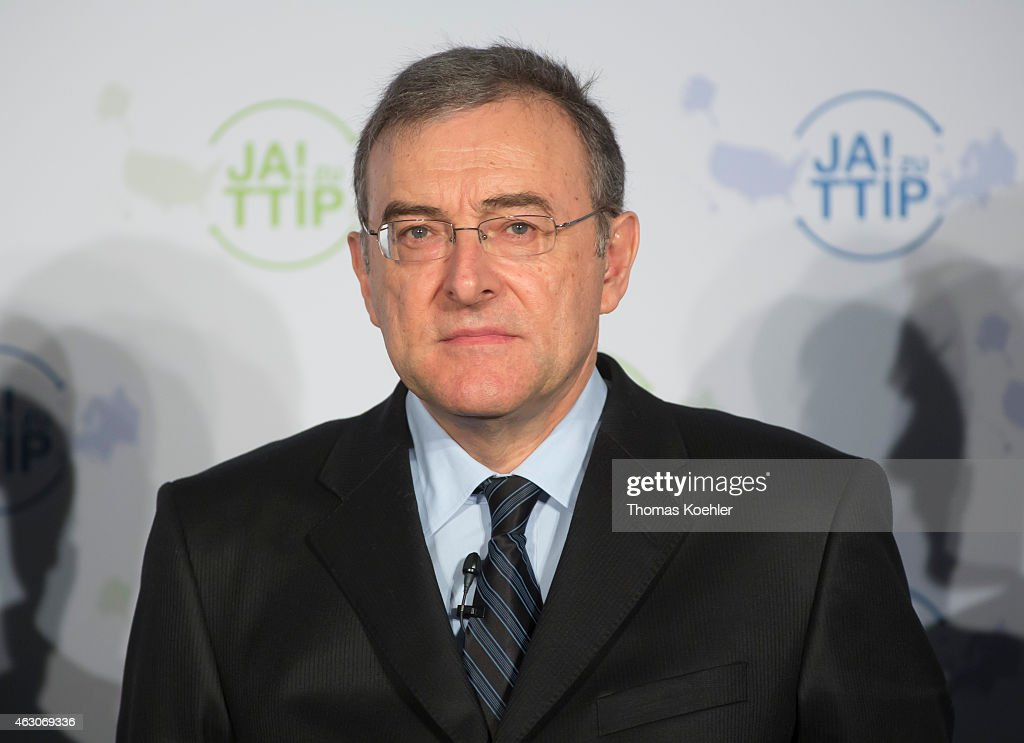 Portrait of Norbert Reithofer Chairman of the Board of Management of BMW AG during the press conference titled the German automotive industry is...