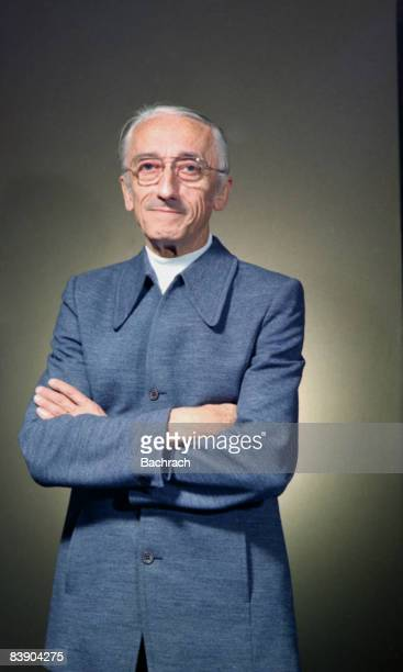 Portrait of noted undersea explorer Jacques Cousteau In a major contribution to marine exploration he coinvented the scuba system in 1943 Photo taken...