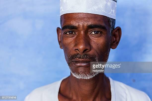 Porträt von Nubian Mann im Süden von Ägypten