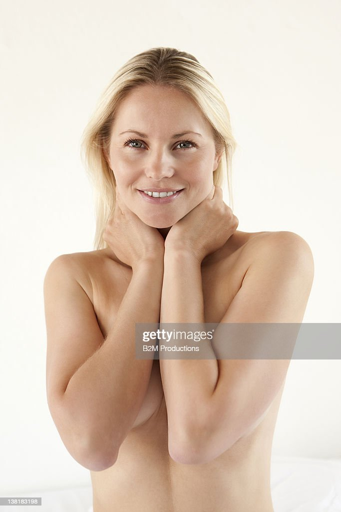 Portrait Of Nude Young Woman : Stock Photo