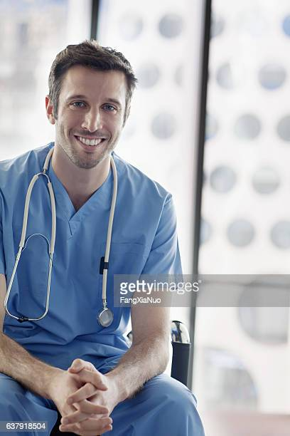 Portrait of nurse in medical facility