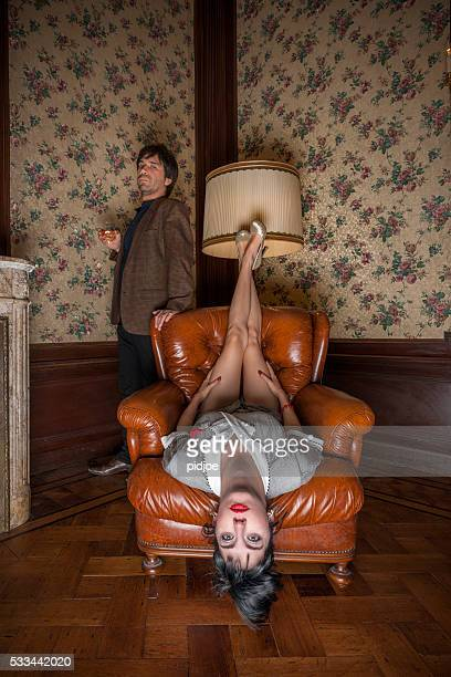Portrait de bizarre couple
