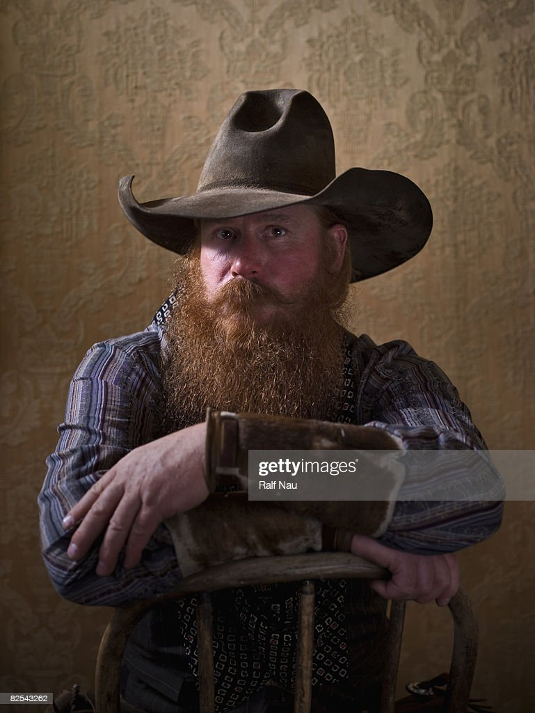 Portrait of of cowboy : Stock Photo