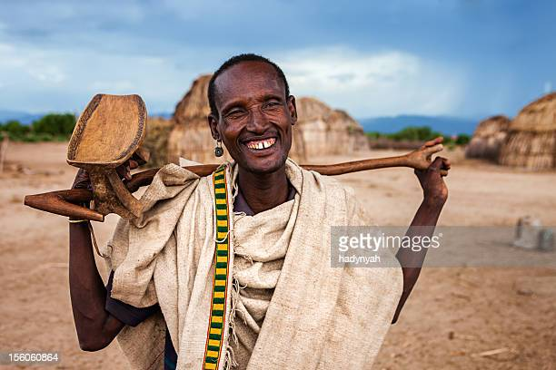 Portrait of old man from Erbore tribe, Ethiopia, Africa