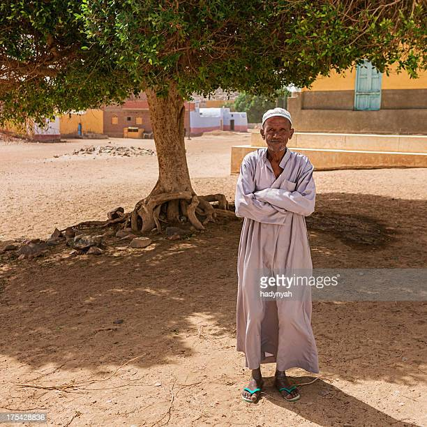 Portrait of old Muslim man in Southern Egypt