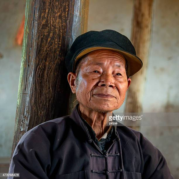 Portrait of old, senior chinese man