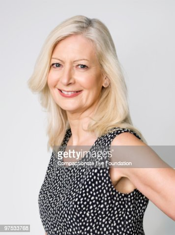 Portrait of older woman : Stock Photo