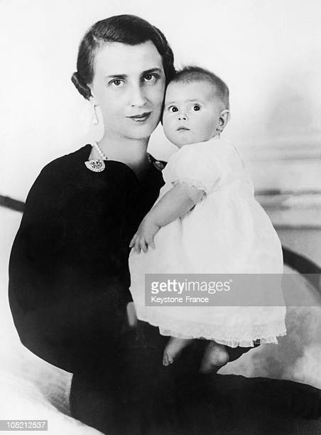 Portrait Of Olga Princess Of Greece Denmark And Yugoslavia Pictured With Her 6Month Old Daughter Princess Elisabeth While In London Visiting Her...