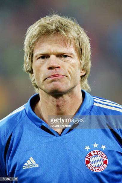 A portrait of Oliver Kahn of Bayern Munich prior to the Champions League last 16 Rd first leg match between Bayern Munich and Arsenal at the Olympic...