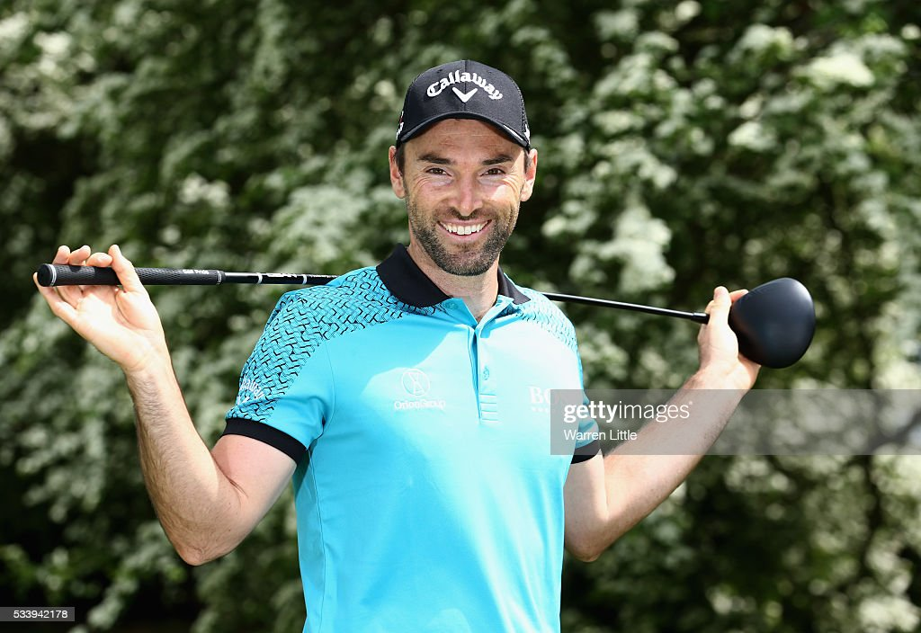 A portrait of <a gi-track='captionPersonalityLinkClicked' href=/galleries/search?phrase=Oliver+Wilson&family=editorial&specificpeople=196534 ng-click='$event.stopPropagation()'>Oliver Wilson</a> of ahead of the BMW PGA Championship at Wentworth Golf Club on May 24, 2016 in Virginia Water, England.
