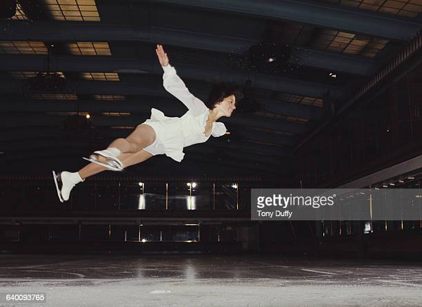 Portrait of Olympic figure skater Dorothy Hamill of the United Stateson 1 February 1975 at the Streatham Ice Rink London United Kingdom