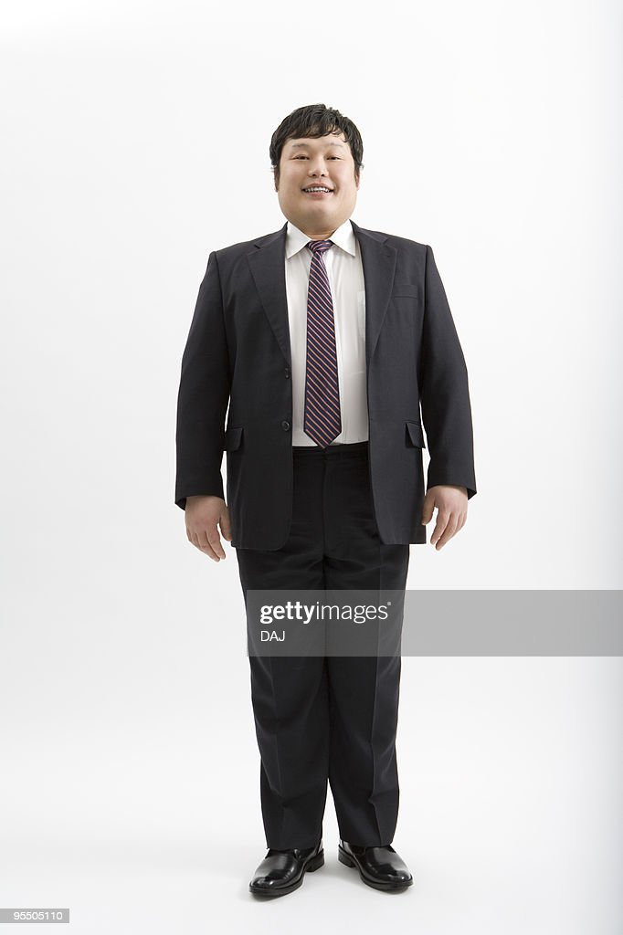 Portrait of overweight man