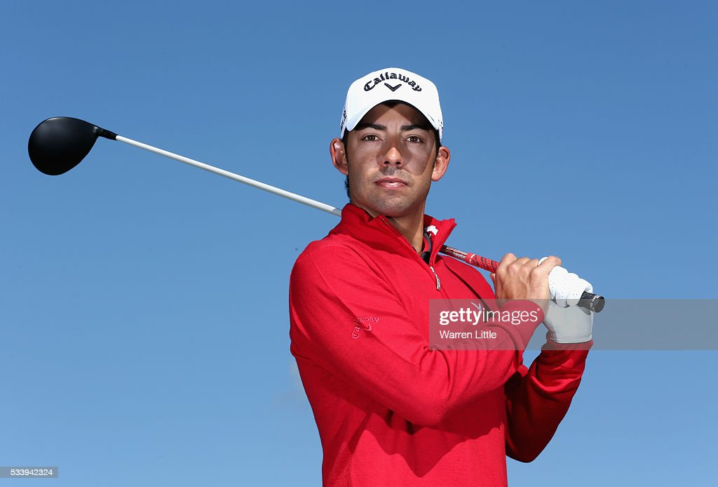 A portrait of <a gi-track='captionPersonalityLinkClicked' href=/galleries/search?phrase=Pablo+Larrazabal&family=editorial&specificpeople=4022842 ng-click='$event.stopPropagation()'>Pablo Larrazabal</a> of Spain ahead of the BMW PGA Championship at Wentworth Golf Club on May 24, 2016 in Virginia Water, England.