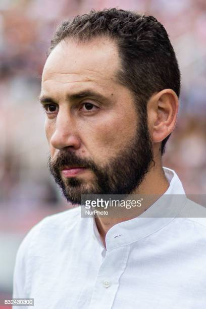 Portrait of Pablo Machin from spain trainer of Girona FC during the Costa Brava Trophy match between Girona FC and Manchester City at Estadi de...