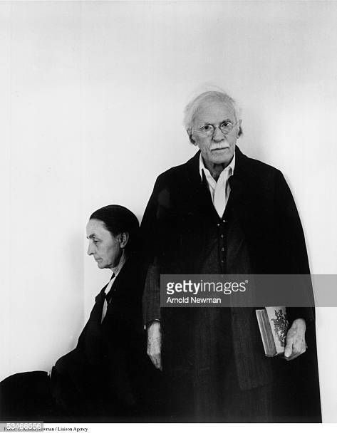 Portrait of painter Georgia O'Keeffe and photographer Alfred Stieglitz April 17 in New York City Stieglitz was the founder of the seminal publication...