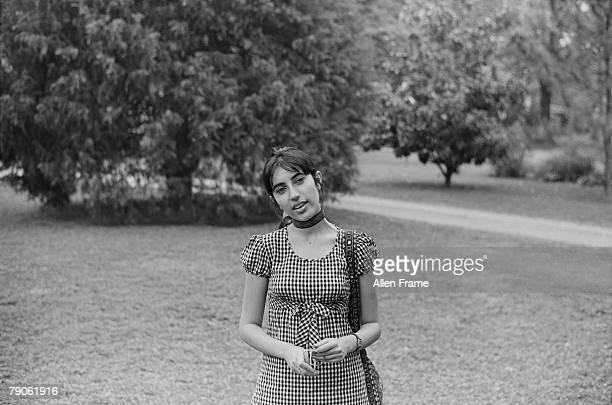 Portrait of Pakistani politician and former Prime Minister Benazir Bhutto Greenville Mississippi April 1972 She attended college in the United States...