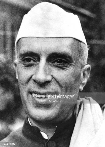 Portrait of Pandit Jawaharlal Nehru the first Prime Minister of India 1949