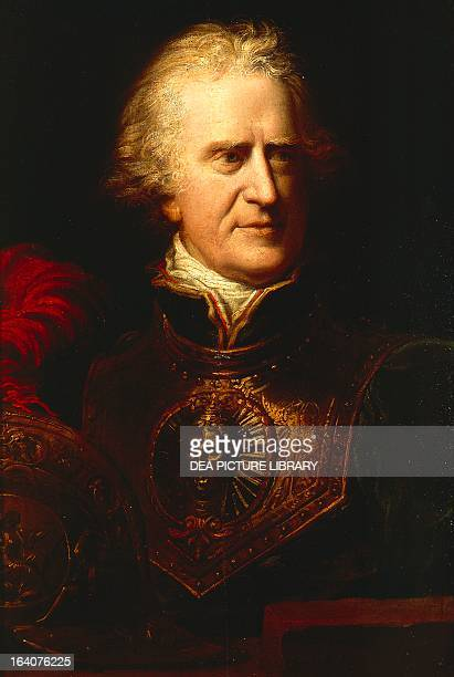 Portrait of Pasquale Paoli Corsican patriot and military commander painting by Richard Cosway Florence Palazzo Pitti Galleria Palatina