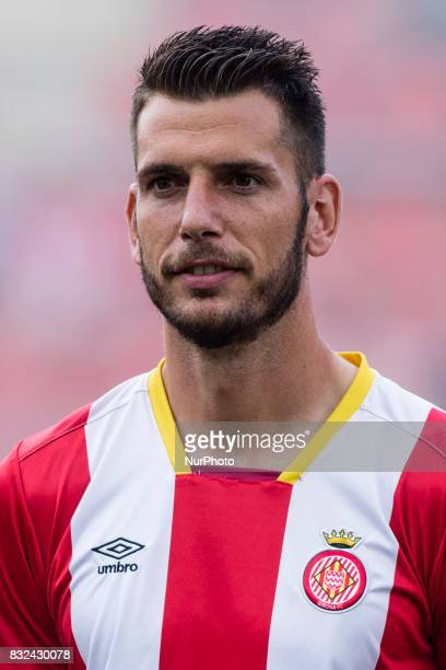 Portrait of Pedro Alcala from Spain of Girona during the Costa Brava Trophy match between Girona FC and Manchester City at Estadi de Montilivi on...