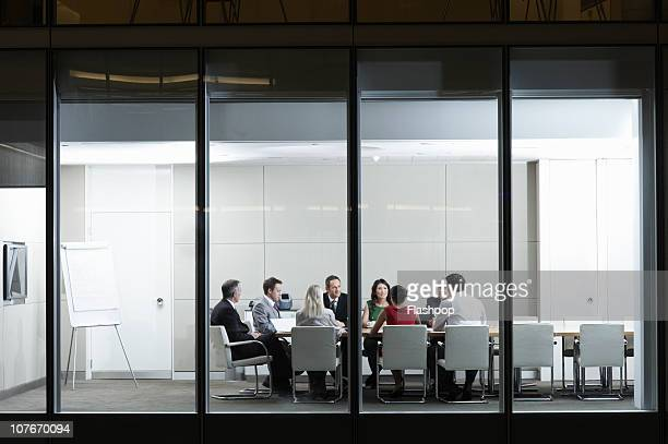 Portrait of people in a business meeting