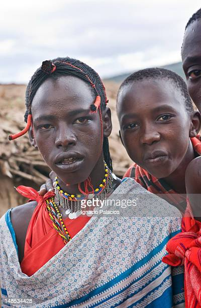 Portrait of people in a Masai Mara village.