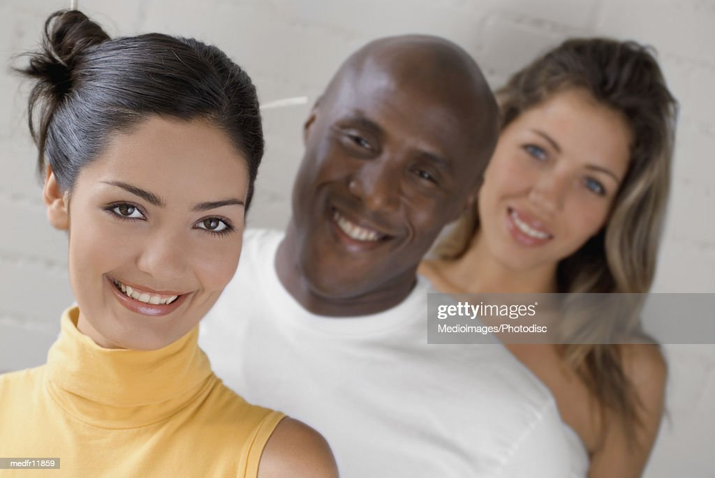 Portrait of people smiling : Stock Photo