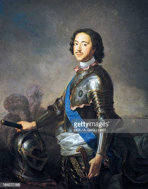 Portrait of Peter I known as Peter the Great Tsar and Emperor of Russia copy of painting by JeanMarc Nattier Mosca Gosurdarstvennyj Istoritscheskij...