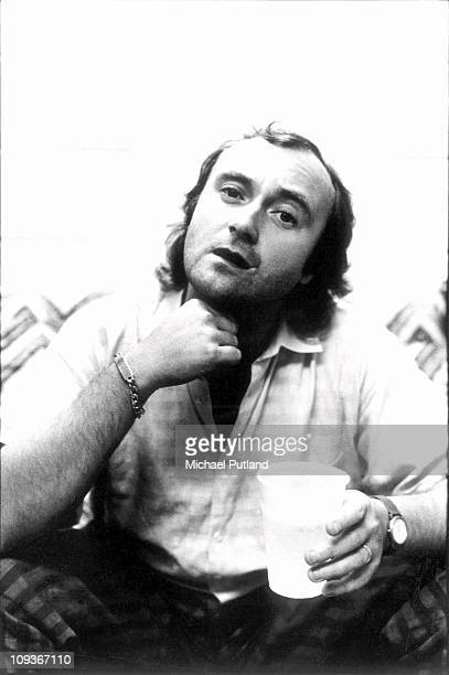 A portrait of Phil Collins of Genesis London circa 1980
