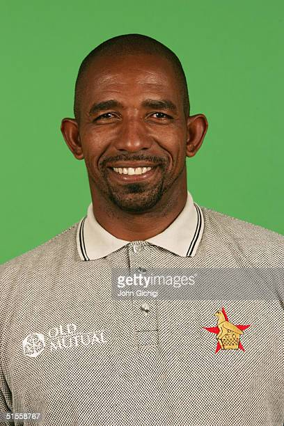 A portrait of Phil Simmons coach of Zimbabwe taken during an ICC photocall at the Royal Garden Hotel on September 5 2004 in London