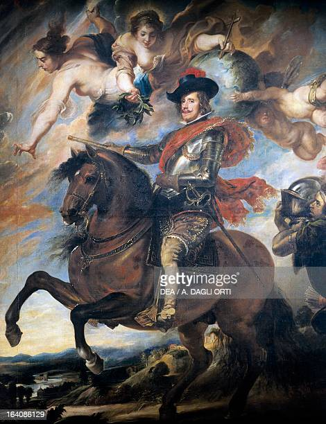 Portrait of Philip IV of Spain King of Spain 1624 Painting by Diego Velazquez copy by Pieter Paul Rubens' Florence Galleria Degli Uffizi