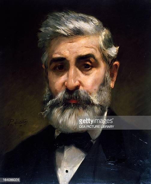 Portrait of Philippe Chaperon French set designer Painting by Paul Mathey Paris BibliothèqueMusée De L'Opéra National De ParisGarnier