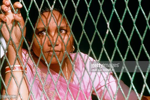 Portrait of Phoolan Devi at her house in India 38 years old murdered in 25th July 2001 in New Delhi legendary in Inia victim of maltreating and rape...